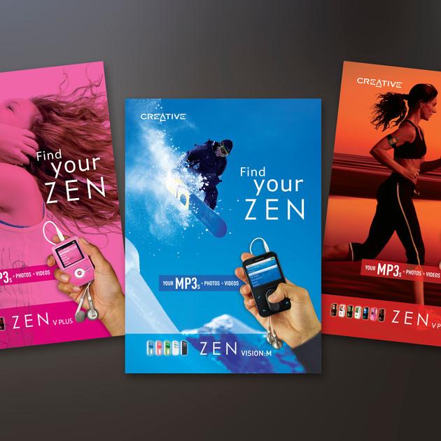FIND YOUR ZEN - ZEN MP3 PLAYER ADS