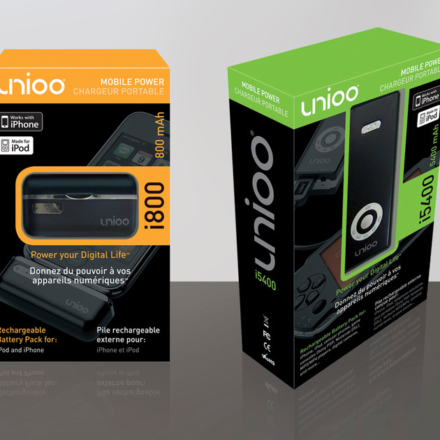 UNIOO MOBILE POWER PACK PACKAGING