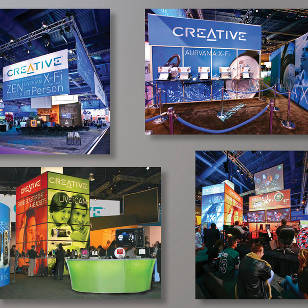 CREATIVE LABS CES BOOTH DESIGN