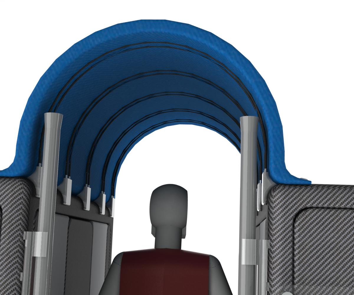 Millimeter wave blocking roof