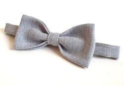 Bow Tie - Grey Linen