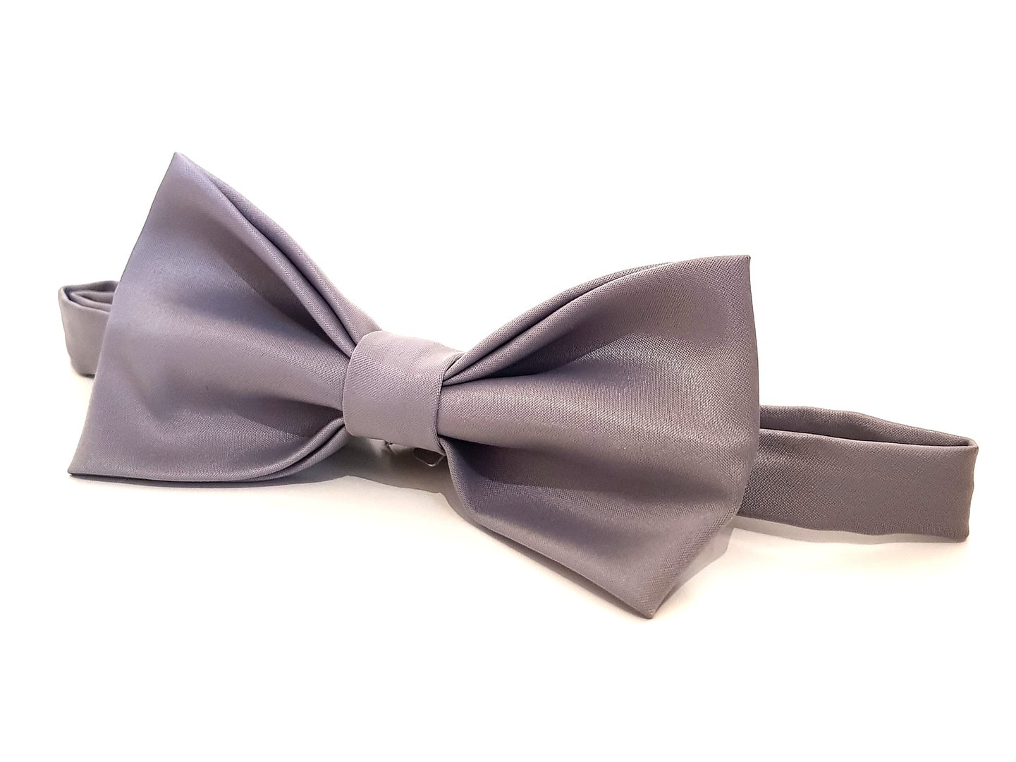 Bow Tie - Grey Satin