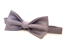Bow Tie - Grey Satin