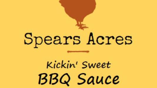 Spears Acres Kickin Sweet BBQ Sauce (1/2 Pint)