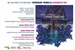 inFASH Forward Trend presents OMNI-THEORY : Everything comes Everything goes SS2017