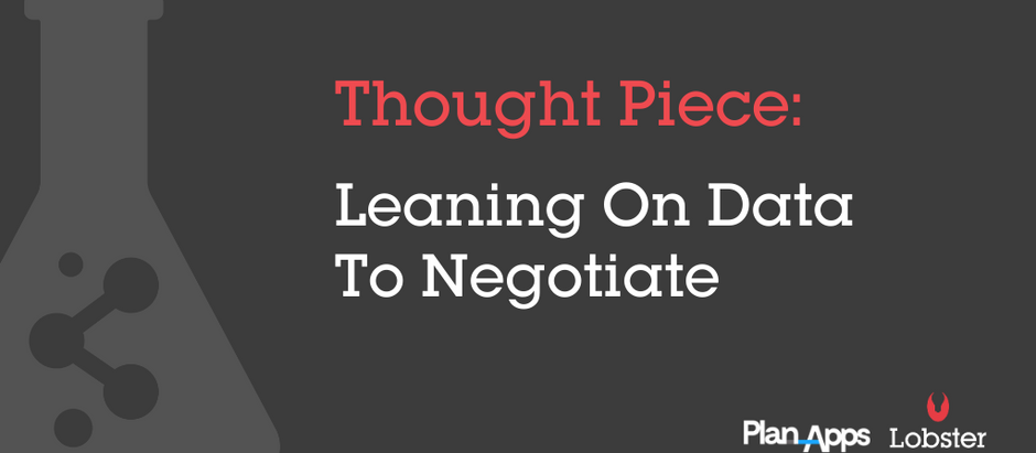 Leaning on data to negotiate