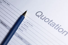 Business document - Quotation. Paper for