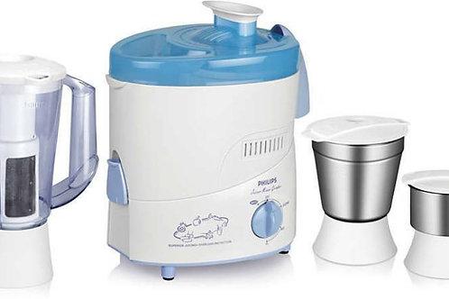 Philips HL 1632/00 500 Juicer Mixer Grinder  (White, Blue, 2 Jars)