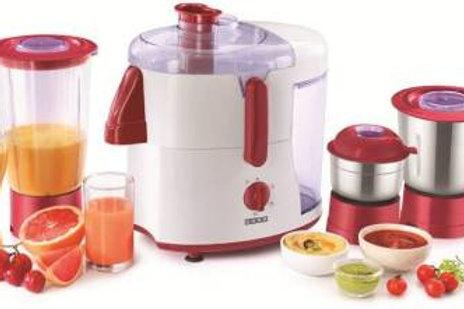 Usha JM - 500XJ3 JM-500XJ3 500 Juicer Mixer Grinder  (Red, 3 Jars)