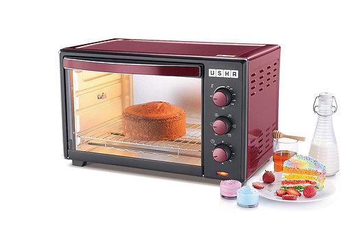 Usha 35L (OTGW 3635RC) Oven Toaster Grill (Wine & Matte Black)