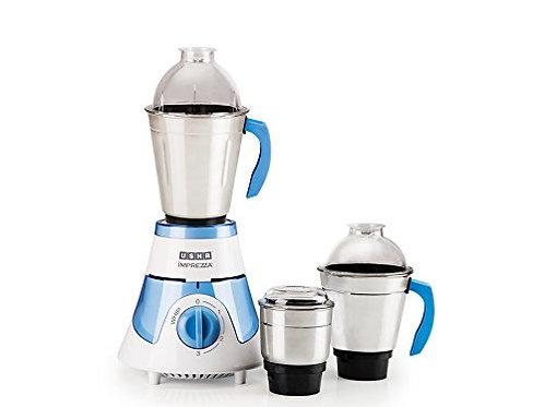 Usha Imprezza Mixer Grinder (3563) with 3 Jars 600-Watt (White/Blue)