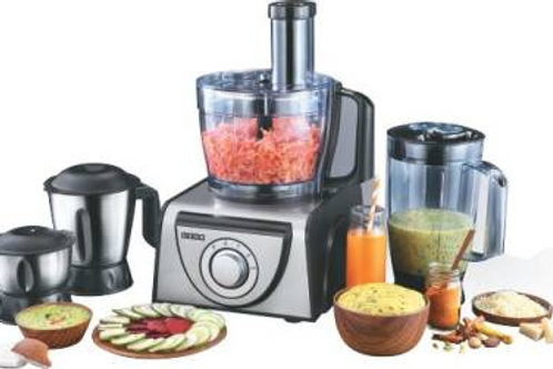 Usha FP 3810 1000 W Food Processor  (Black, Silver)