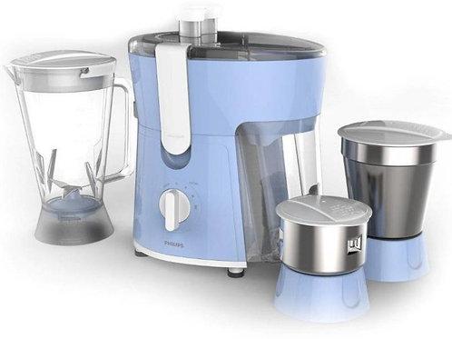 Philips hl 7576/00 600 W Juicer Mixer Grinder  (Blue, 3 Jars)