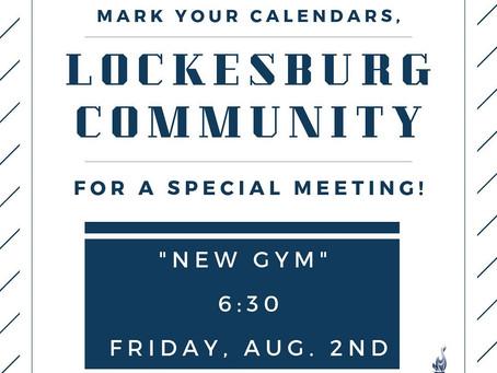 Lockesburg Community Meeting--Friday 8/2 630pm