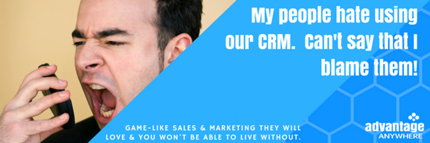 People hate using our crm