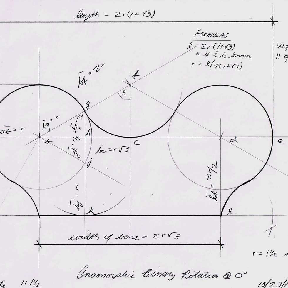 Anamorphic Binary Rotation Design Drawing