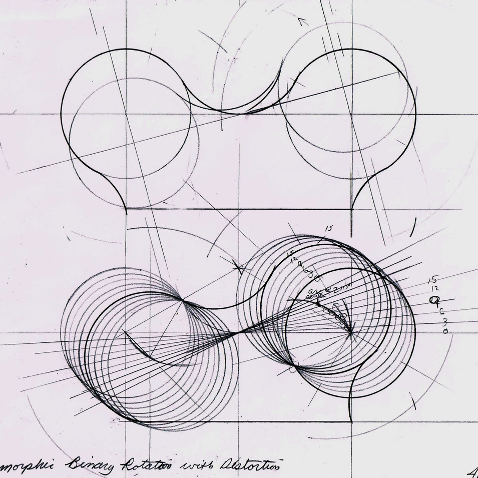 Anamorphic Binary Rotation Design Drawing