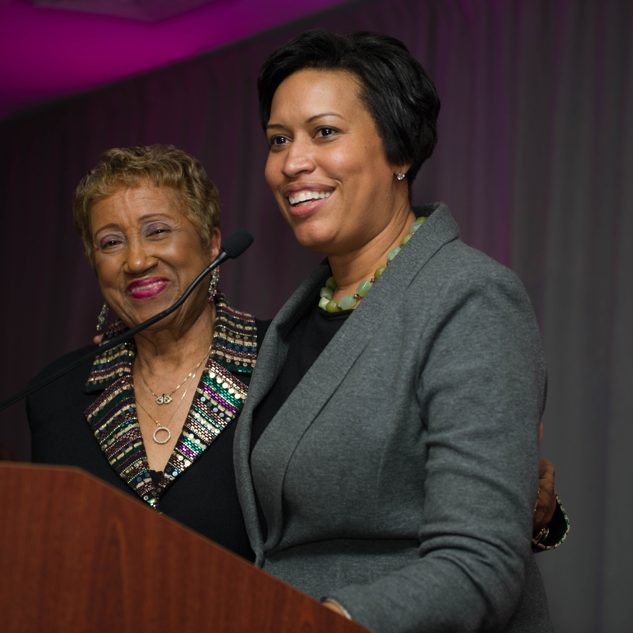 Dr. Janette Hoston Harris and Mayor Muriel Bowser