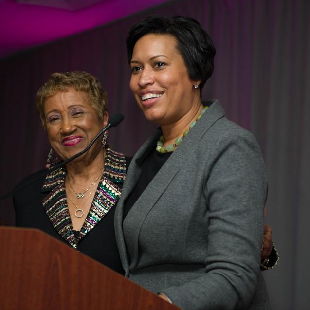 Dr. Janette Hoston Harris and Mayor Muriel Bowser