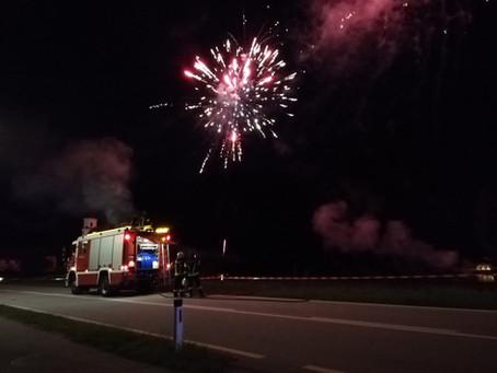Sicher ist sicher! Feuerwerk ohne Zwischenfälle durchgeführt & überwacht