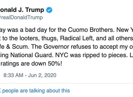 Trump compara situación de NY con Washington e insiste en despliegue de la Guardia Nacional