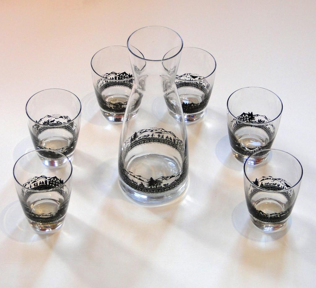 Karaffe mit 6 Gläser