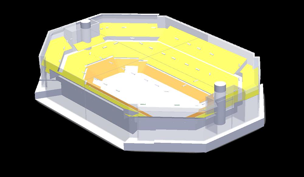 Géométrie 3D de l'AccorHotels Arena