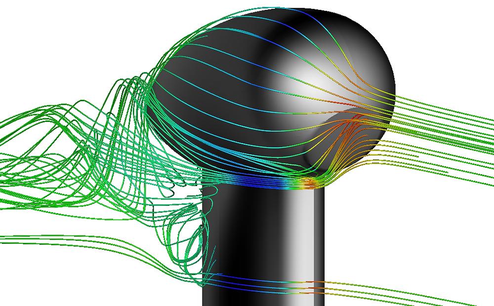 Andheo simulation sonde détection de givre Zodiac Aerospace - lignes de courant