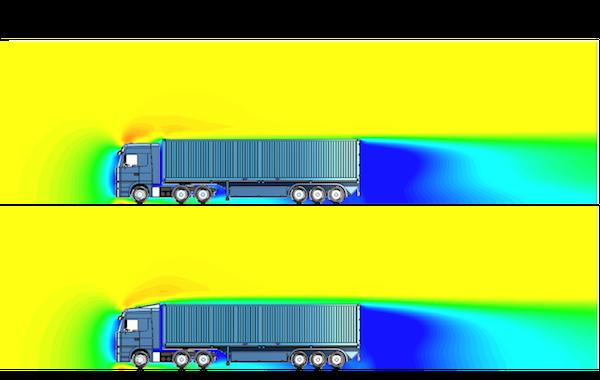 Calcul CFD sur un camion