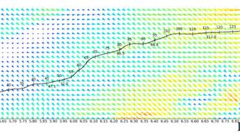 Efforts aérodynamiques sur les marches d'essai LGV Rhin-Rhône tenant compte des conditions météo