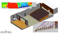 Contamination aéroportée au Covid-19 dans une salle de spectacle