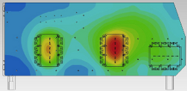 Champ de température dans le système