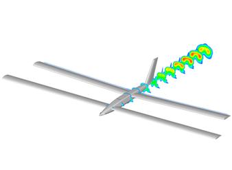 Simulation des performances aérodynamiques d'un drone solaire à double voilure