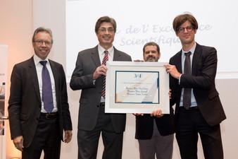 Prix 3AF de l'Excellence Scientifique remis à T. Soubrié, Directeur Général d'Andheo