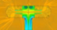 Lignes de courant dans une crépine marine obtenues par simulation hydraulique