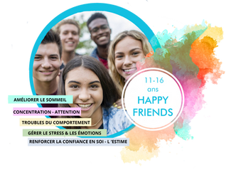 Saison Happy Sophro 2019-2020: Ateliers de groupe Happy Friends(11-16 ans)