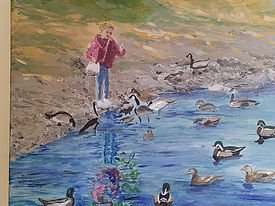 Oct 2021 Taylor Lisa Girl Feeding Ducks