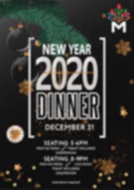 New year eve dinner celebration