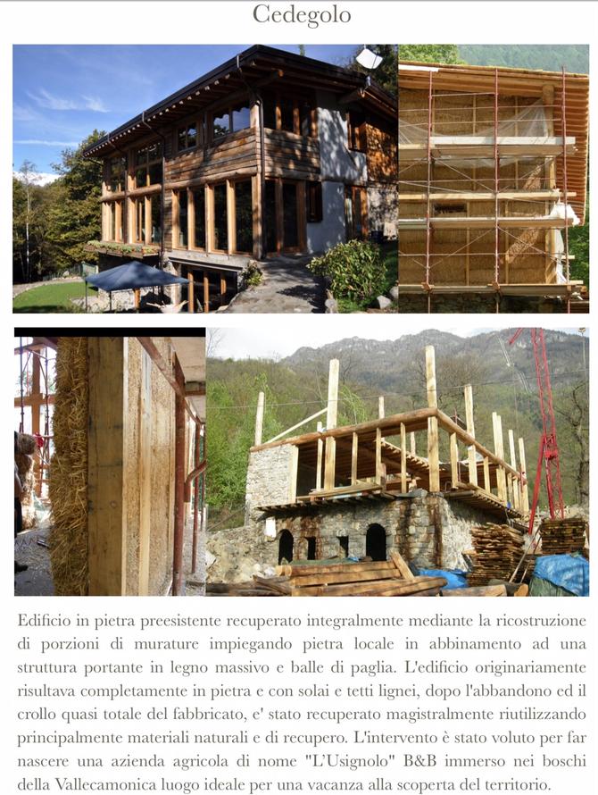 Risanamento edificio in pietra a Cedegolo - Italia
