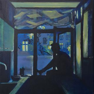 Night kitchen#3 60x40 cm