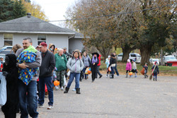 The line for Trunk or Treat