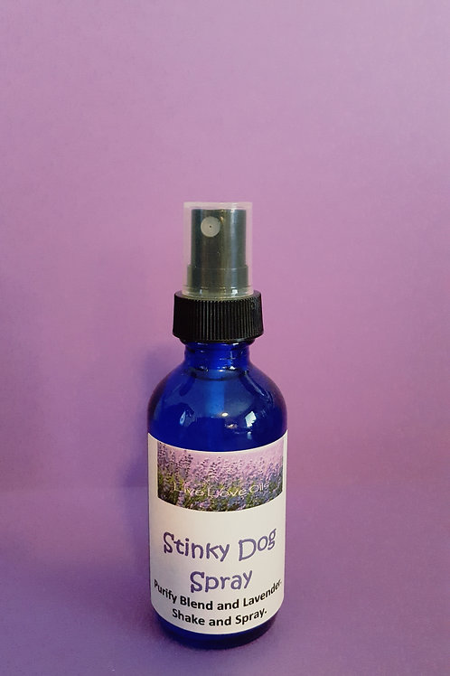 Stinky Dog Spray with Cleansing Blend and Lavender