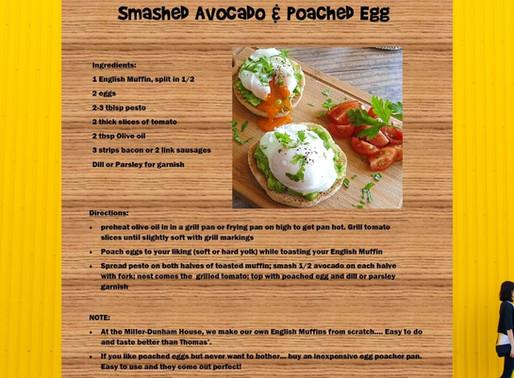 Smashed Avocado Breakfast Egg Sandwich