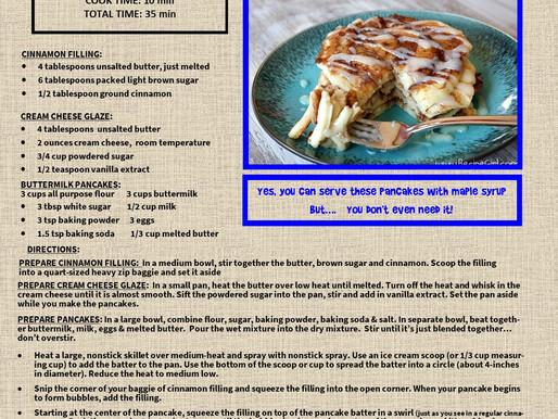 Cinnamon Roll Buttermilk Pancakes