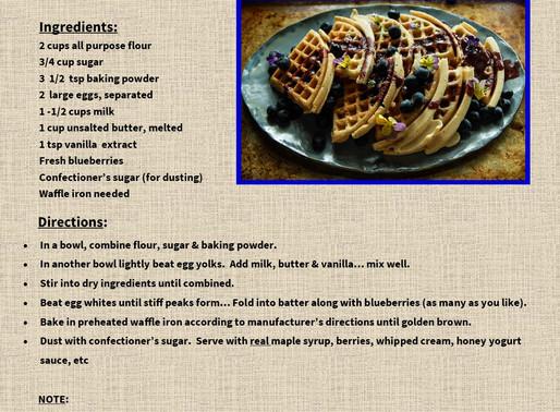 World Famous Blueberry Belgian Waffles