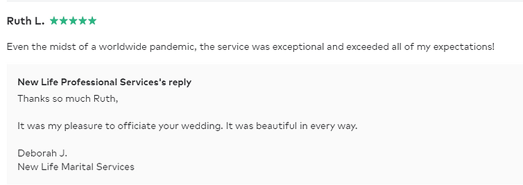 Ruth L - Wedding Officiant Review.PNG