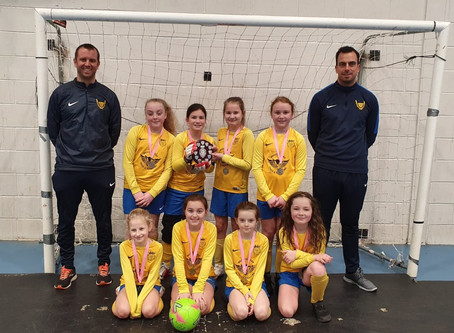 LLWR and Meadow Road Tyres Sponsored U10 Lionesses win Futsal Cup for 3rd year in a row!