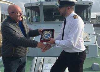 Mayor Receives Crest