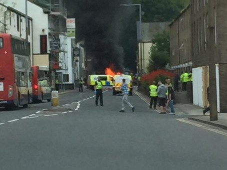 UPDATED: Whitehaven robbery and fire!