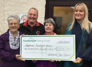 WHITEHAVEN TOWN COUNCIL AWARD GRANT FUNDING TO MIREHOUSE RESIDENTS GROUP